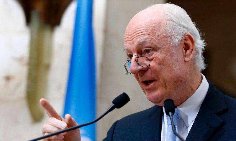 المبعوث الأممي لسوريا ستيفان دي ميستورا، (انترنت)