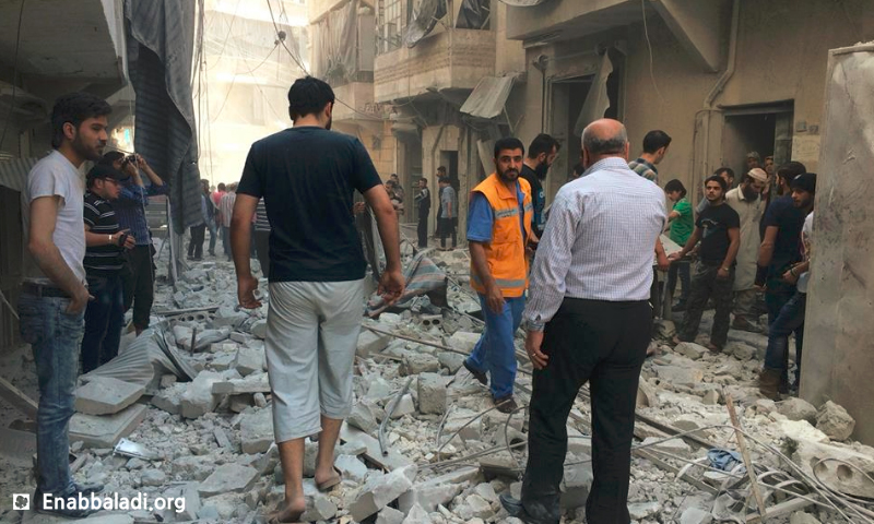القصف على حي السكري في حلب - الاثنين 30 أيار 2016 (عنب بلدي)