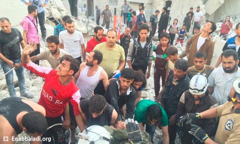 آثار القصف على حي الصالحين في حلب - 2 حزيران (أرشيف عنب بلدي)