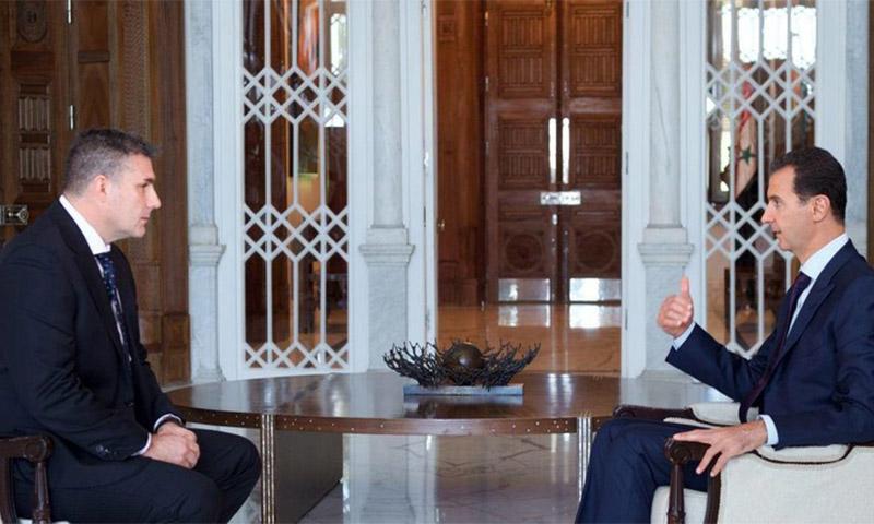 الأسد خلال مقابلة مع قناة SBS الإسترالية (سانا)