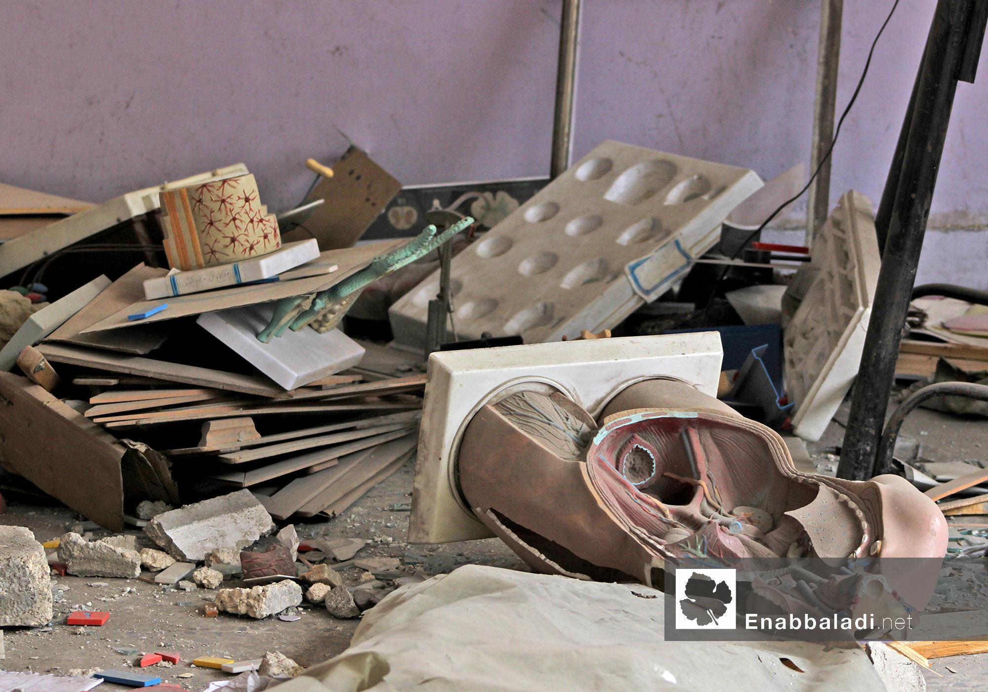 آثار الدمار في أحد المدارس بحلب - 20 تشرين الأول 2014 - (عنب بلدي)