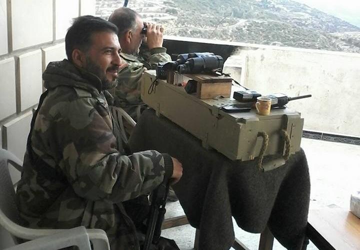 """حسين الأسد، قريب رأس النظام، قائد ميليشيا """"أسود الحسين (فيسبوك)."""