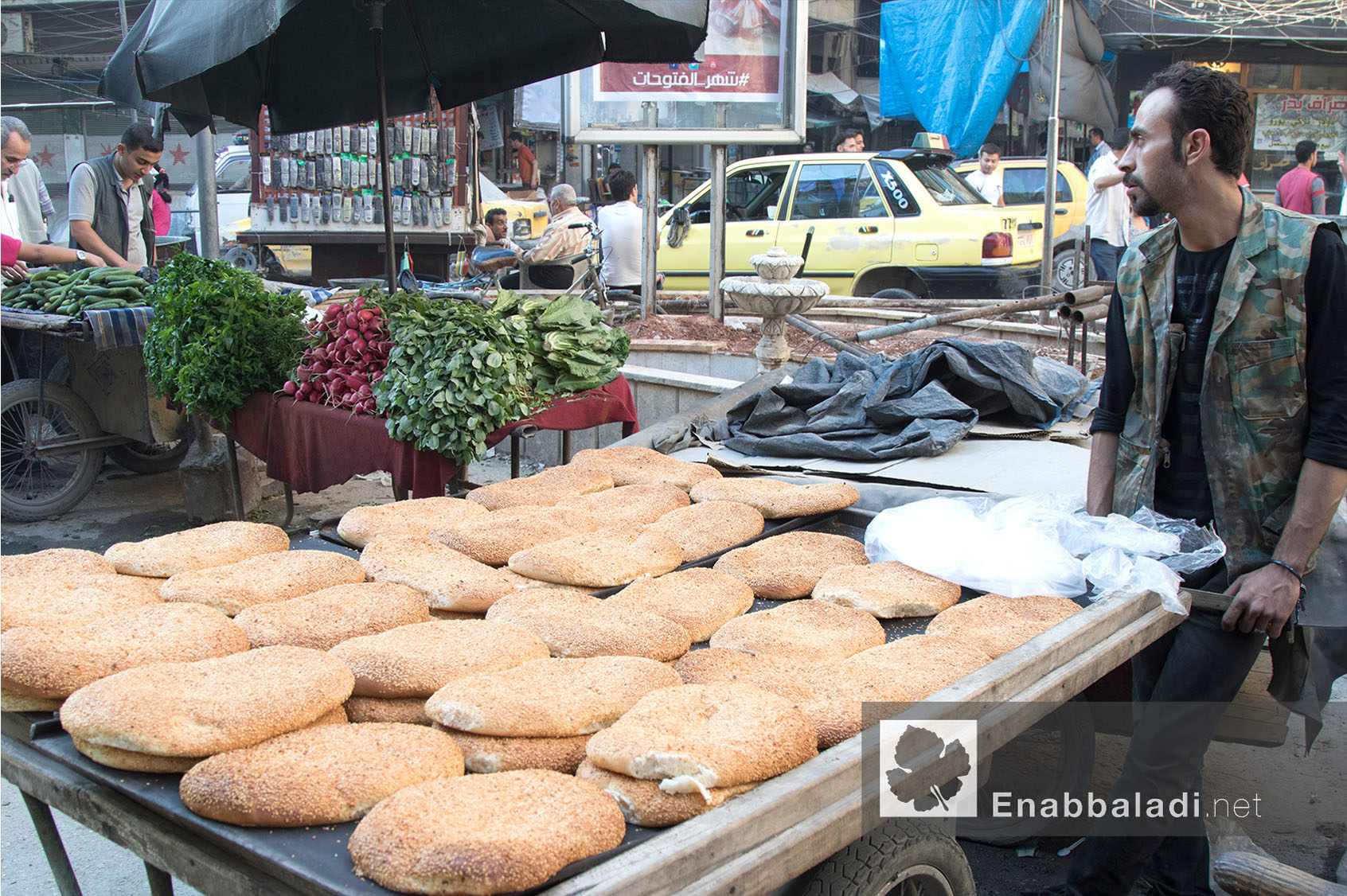 عربة معروك في أحد أسواق مدينة حلب في رمضان - 13 حزيران 2016 - (عنب بلدي)
