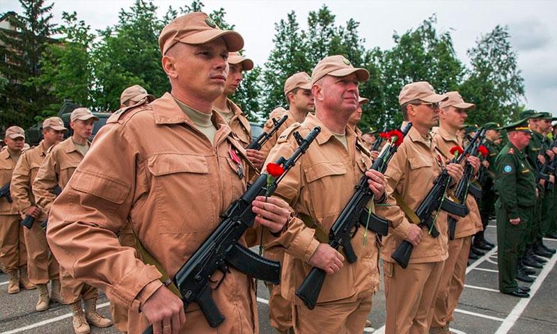 جنود روس شاركوا في نزع الالغام في سوريا(الصحفي سارغون)