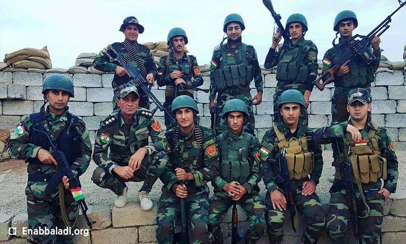 """مقاتلون من """"بيشمركة روج آفا"""" في كردستان العراق - أيار 2016 (عنب بلدي)"""