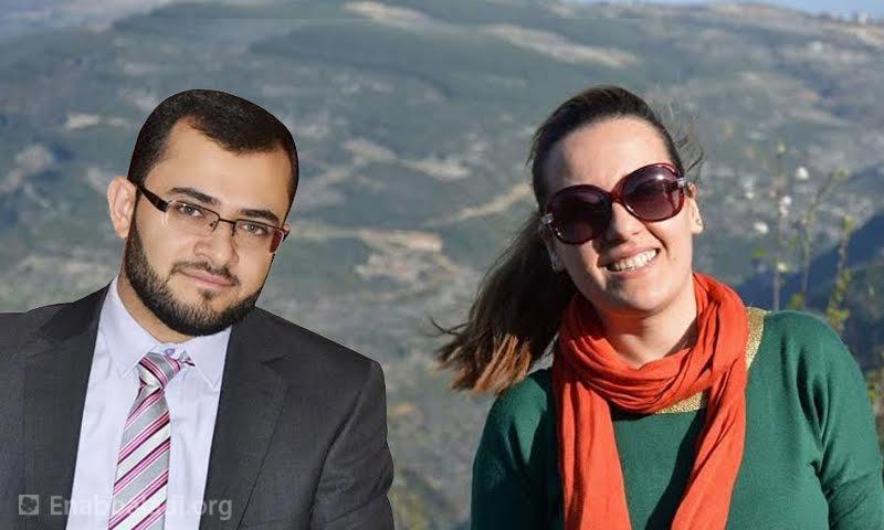 أنس زريع وديمة سليمان، أمينا سر مجلس الشعب وأصغر أعضائه. (معدلة بواسطة فوتوشوب)