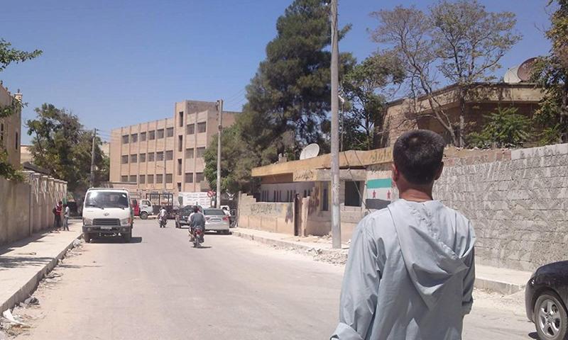 """صورة أرشيفية لمدينة منبج قبيل دخول تنظيم """"الدولة الإسلامية"""" إليها."""