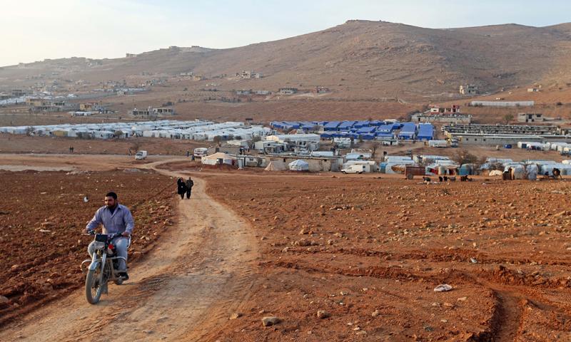 مخيم للاجئين السوريين في عرسال (صورة أرشيفية).