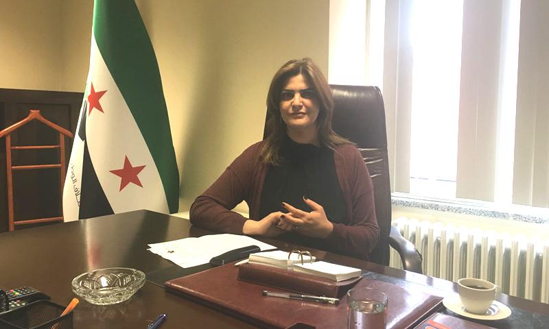 سميرة المسالمة- نائب رئيس الائتلاف الوطني السوري (إنترنت)
