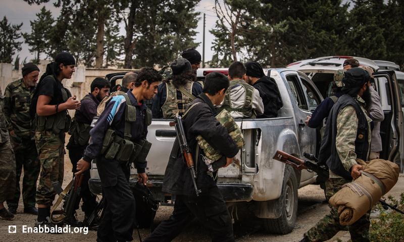 """عناصر من """"جيش الفتح"""" في ريف حلب الجنوبي، 9 حزيران 2016 (عنب بلدي)."""