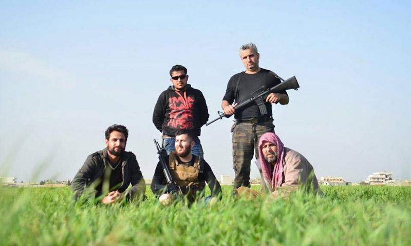 """أرشيفة لمقاتلين في """"الجيش الحر"""" شمال حلب (فيسبوك)"""
