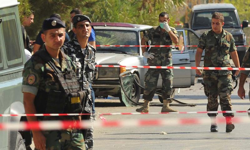توتر أمني عقب تفجيرات بلدة البقاع البنانية، الاثنين 27 حزيران (وكالات)