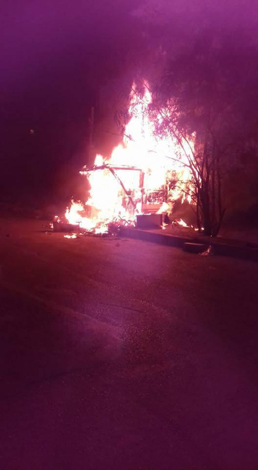 إحراق محل تجاري يعود للاجئ سوري في العاصمة التركية أنقرة- السبت 16 تموز (سوريون في أنقرة)