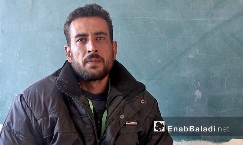 المدرس عامر التركماني- توفي متأثرًا بجراحه في درعا البلد- الجمعة 29 تموز (عنب بلدي)