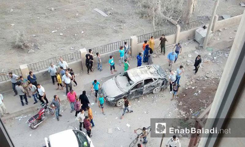 آثار الدمار في القامشلي - الجمعة 29 تموز (عنب بلدي)