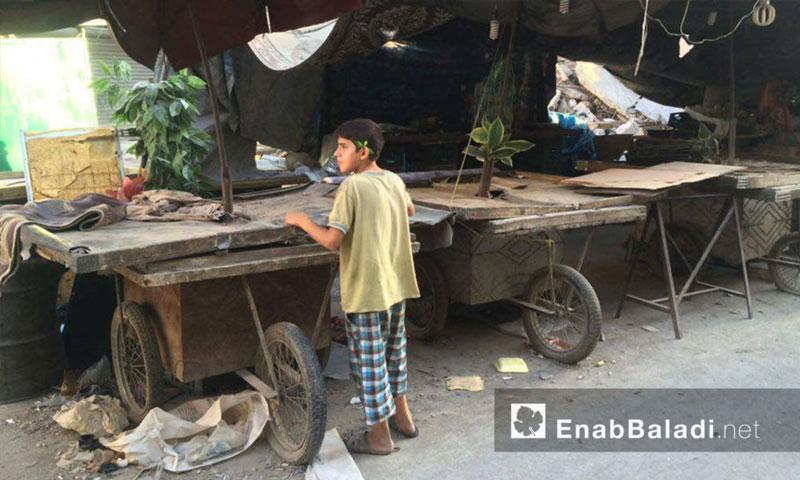 أسواق حي الشعار في حلب - الاثنين 11 تموز (عنب بلدي)