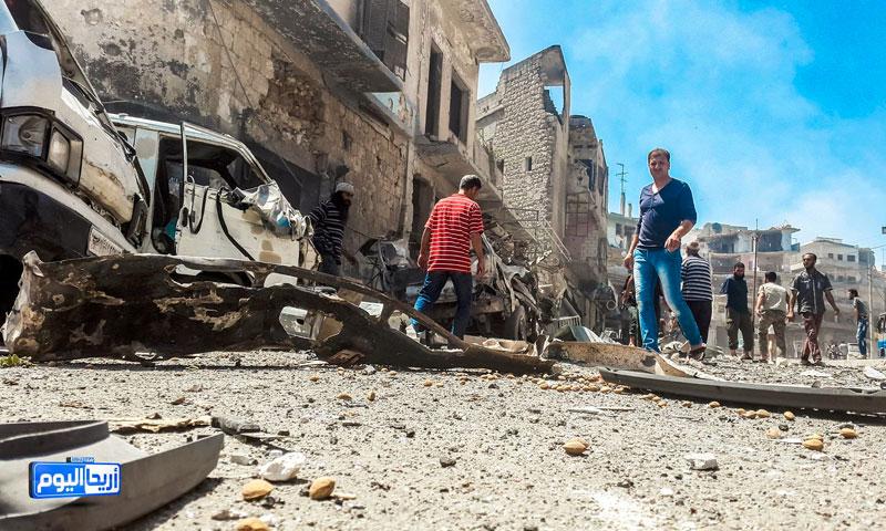 آثار القصف على مدينة أريحا - 13 تموز 2016 (أريحا اليوم)