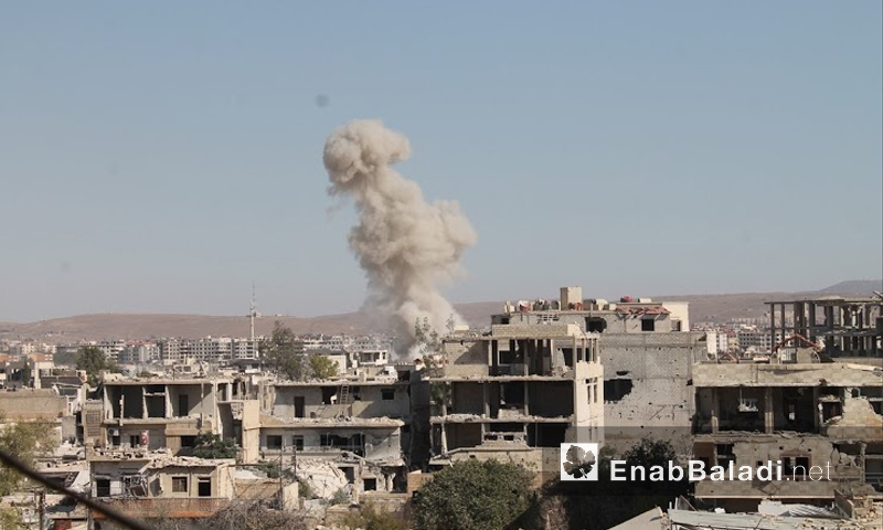 قصف على مدينة داريا - 22 تموز (أرشيف عنب بلدي)