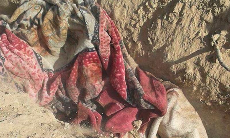 صور من المجزرة في قرية التوخار شمال منبج - الثلاثاء 19 تموز (ناشطون)