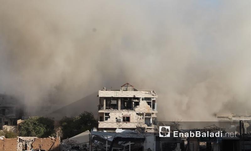 آثار القصف على داريا - 12 تموز (أرشيف عنب بلدي)