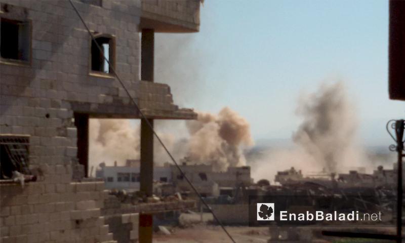 آثار القصف على داريا اليوم الثلاثاء 12 تموز (عنب بلدي)