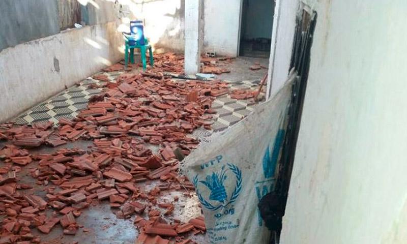 آثار الدمار داخل دار السعادة للمسنين في تلبيسة بريف حمص الشمالي - الاثنين 25 تموز (فيس بوك)