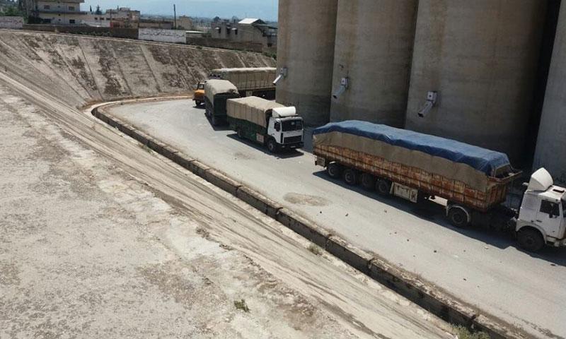 دخول القوافل الإنسانية إلى بلدة قلعة المضيق في ريف حماة- الخميس 21 تموز (ناشطون)