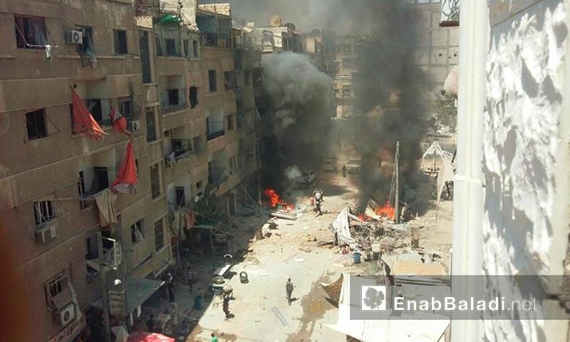 المنطقة بين دوما وحرستا في الغوطة الشرقية - الثلاثاء 19 تموز (عنب بلدي)
