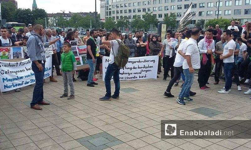 """اعتصام """"المجلس الوطني الكردي"""" في ألمانيا- السبت 9 تموز (عنب بلدي)"""