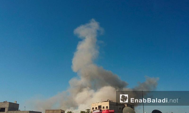 الغارات على مدينة دوما اليوم -السبت 23 تموز (عنب بلدي)