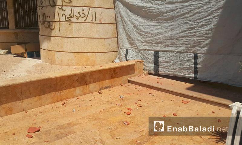 آثار القصف على منزل مراسل عنب بلدي في ريف حلب - الاثنين 18 تموز (عنب بلدي)
