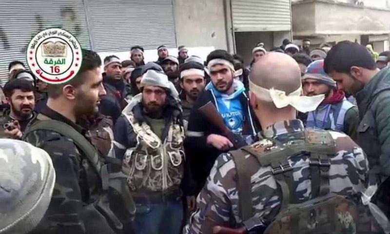 مقاتلو الفرقة 16 مشاة في حلب (إنترنت)