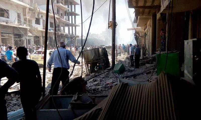 دمار كبير خلفه تفجير القامشلي- الأربعاء 27 تموز (ناشطون)