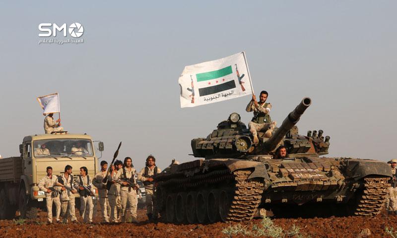 مقاتلو الجبهة الجنوبية في درعا - 25 حزيران 2016 (الهيئة السورية للإعلام)