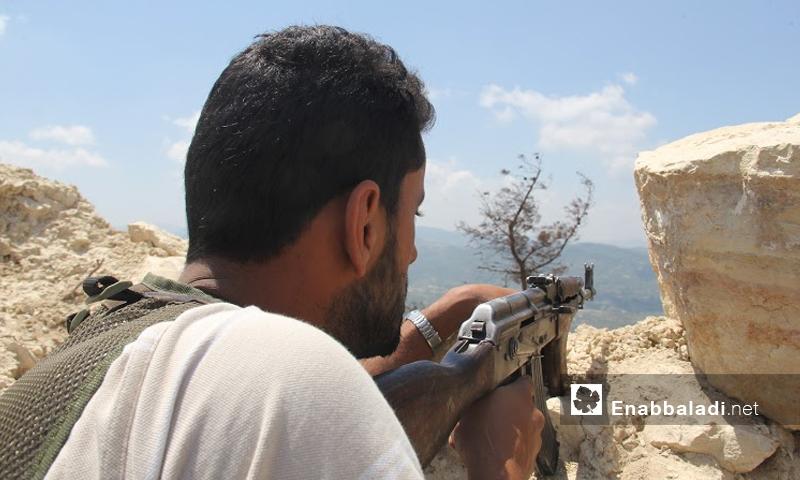 مقاتلون على جبهة الساحل - الخميس 30 حزيران (عنب بلدي)