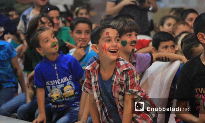 نشاط الدعم النفسي لأطفال إدلب برعاية منظمة بنفسج - ثالث أيام عيد الفطر - الجمعة 8 تموز (عنب بلدي)