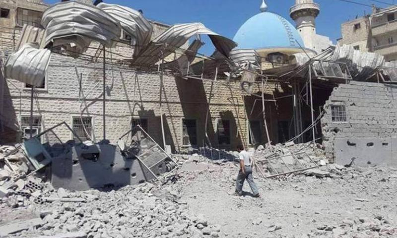 مسجد أويس القرني في حلب - نيسان 2016 (إنترنت)