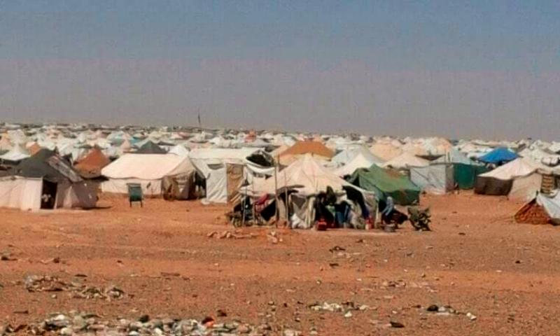 مخيمات النازحين في منطقة الركبان على الحدةد الأردنية- السورية أيار 2016 (تنسيقية الثورة في مدينة تدمر)