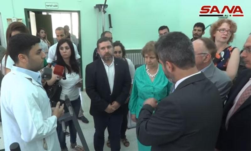 نائب رئيس لجنة الشؤون الخارجية في البرلمان الأوروبي، خافيير كوسو يتحدث للصحفيين - دمشق (سانا)