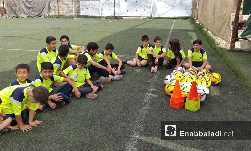 مشروع الطفل الرياضي بمرحلته الثانية في حلب - حزيران 2016 (عنب بلدي)