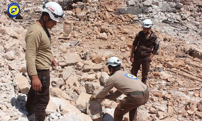 عناصر من الدفاع المدني في ريف حلب الشمالي- الجمعة 1 تموز (الدفاع المدني في حلب الحرة)