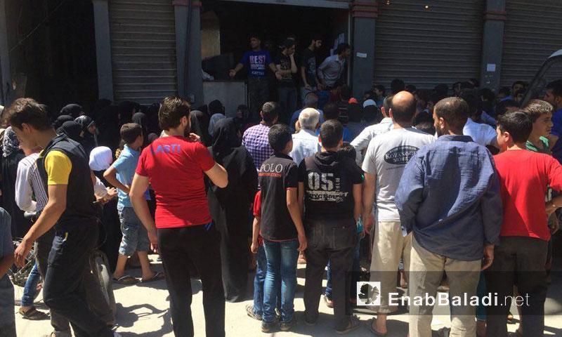 """المخبز الوحيد المتبقي في أحياء حلب """"المحررة""""- الأحد 24 تموز (عنب بلدي)"""