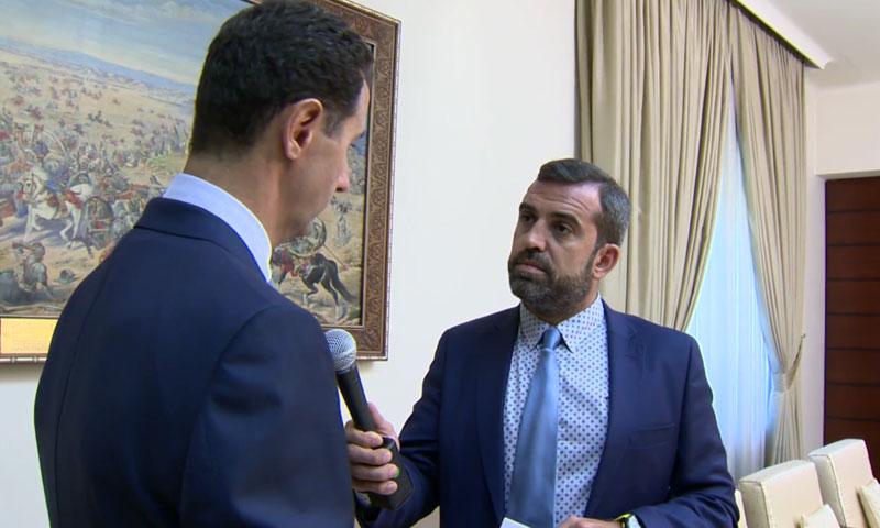 """بشار الأسد يتحدث إلى محطة """"ETV"""" اليونانية- الأربعاء 25 تموز (يوتيوب)"""