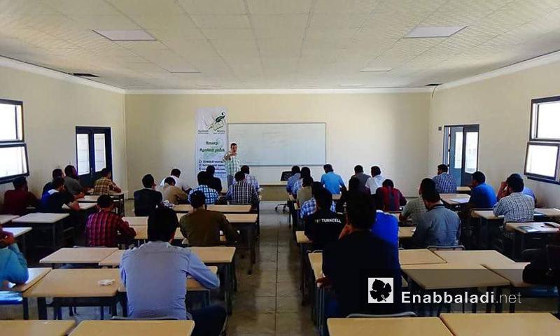 جامعة الشام العالمية في اعزاز بريف إدلب - حزيران 2016 (عنب بلدي)