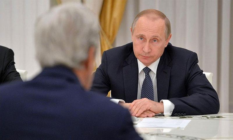 من اجتماع كيري وبوتين في موسكو - الخميس 14 تموز (AFP)