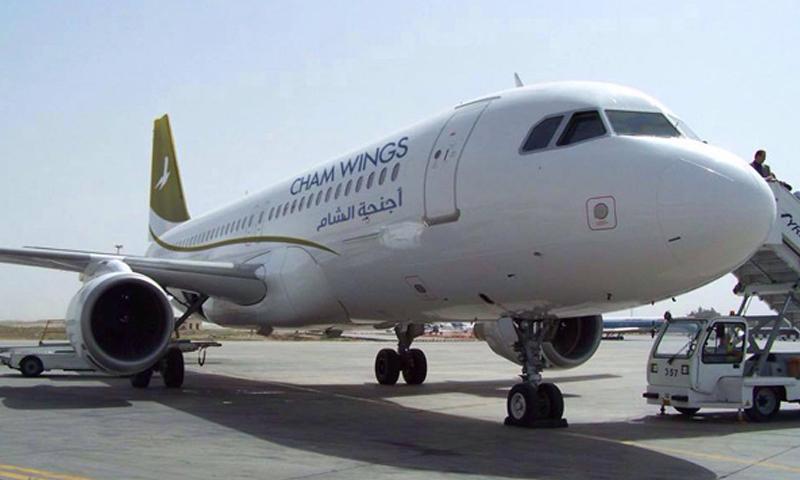 """طائرة تابعة لشركة """"أجنحة الشام"""" (فيس بوك أجنحة الشام)"""