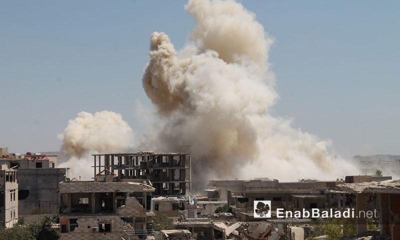 استهداف مدينة داريا بالبراميل المتفجرة- الثلاثاء 12 تموز (عنب بلدي)