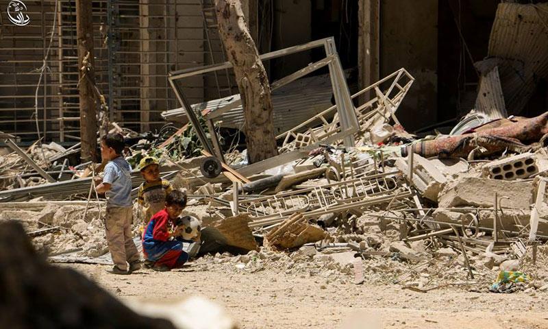 مدينة داريا في ريف دمشق الغربي- الخميس 7 تموز (المجلس المحلي في داريا)
