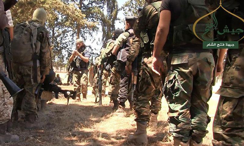 """عناصر من جبهة """"جيش الفتح"""" قبيل انطلاقة معركة حلب- الأحد 31 تموز (فتح الشام)"""