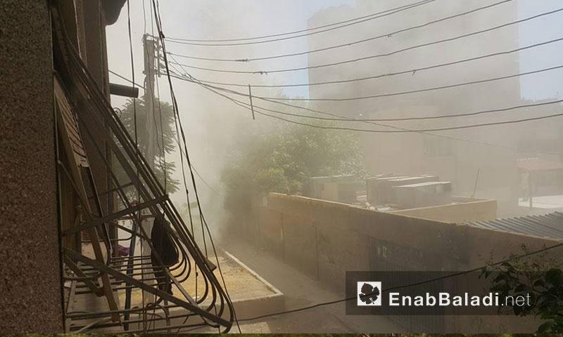غارة جوية على مدينة دوما- الأحد 24 تموز (عنب بلدي)